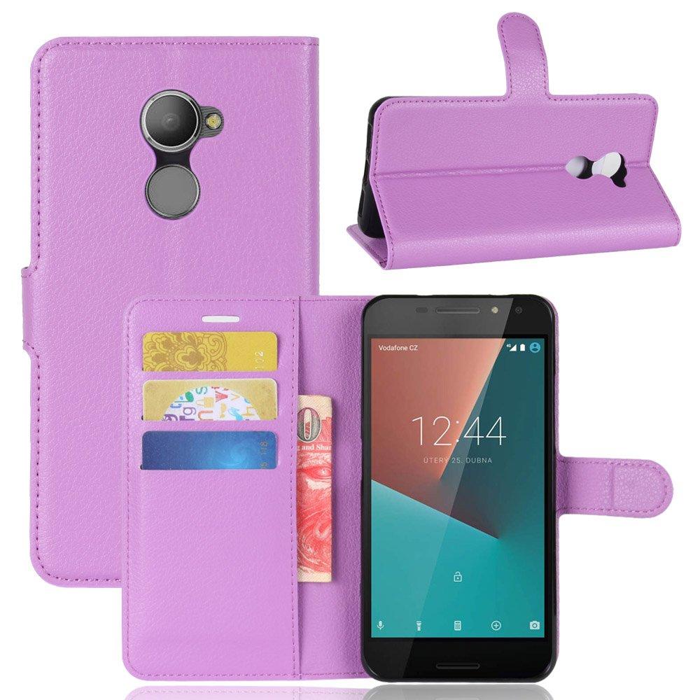 Nadakin Vodafone Smart N8 VFD610 Calidad Premium Cartera de Cuero con Carcasa de Teléfono Flip Funda con Soporte Magnetico de Cierre para Vodafone ...