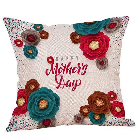 Tianya Funda de almohada suave y confortable Feliz día de la madre para Sofá cama Decoración para el hogar 18