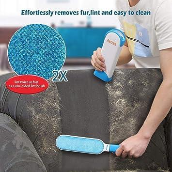 ... rodillo de pelusas con cepillo de limpieza para perro, gato, mascotas, se elimina del pelo de la ropa y muebles, tamaño de viaje, asistente de piel como ...