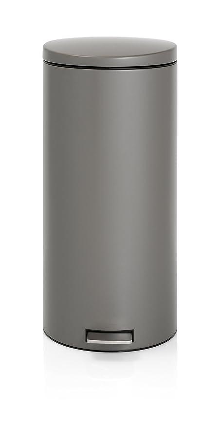 Brabantia Pedal Bin 478802 - Cubo de Basura, 30 litros, Color Platinum