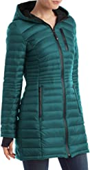 e330c68940b HFX Halifax Women's Teal Down Packable Coat Hooded