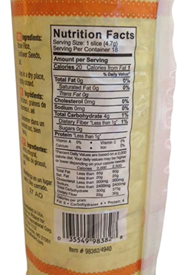 Forrelli Rice Cakes with Sunflower 2.9 Oz (2): Amazon.com: Grocery & Gourmet Food