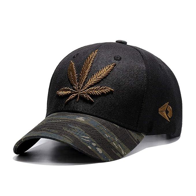 a31e08f01083f Camuflaje Gorras De Béisbol para Hombre Grabados Weed Snapback Sombreros para  Mujeres Swag Hip Hop Casquette Deporte Al Aire Libre Casual C1 55 Cm A 60  Cm  ...