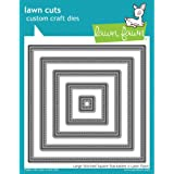 Lawn Fawn Lawn Cuts Custom Craft Die LF837 Large Stitched Square Stackables