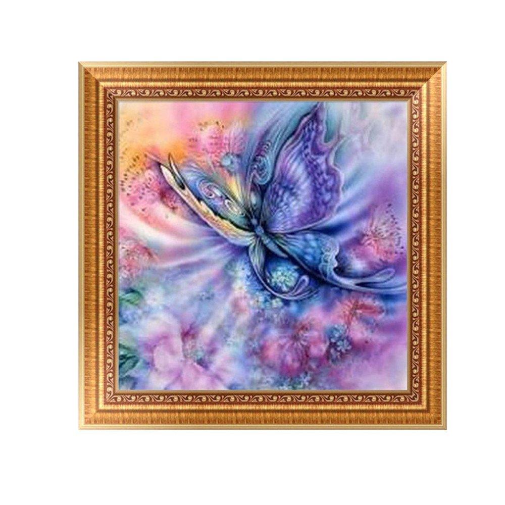 Chshe Diamant kit de peinture, cristaux Diamant Broderie Strass Peinture Collez-le Peinture Home Decor Sticker mural 30 * 30cm D