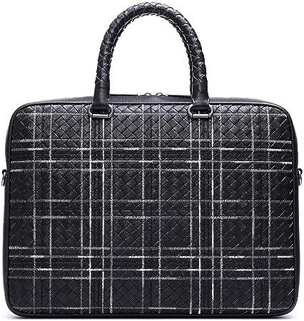 Kindlov-BG Men Laptop Briefcase Bag Men Leather Briefcase Messenger Business Bags Laptop Handbag for School Travel