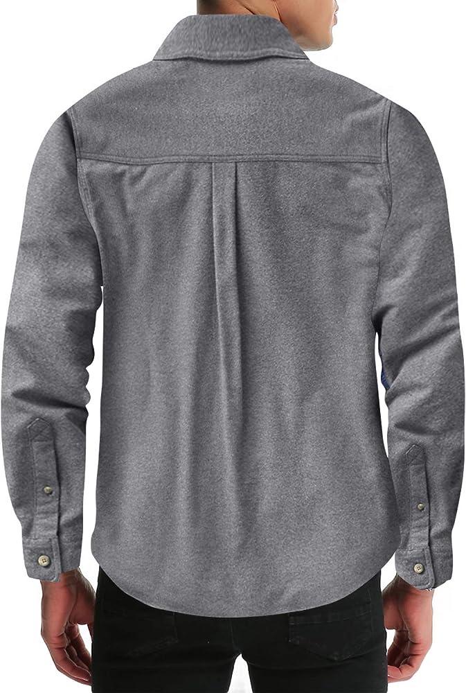 MODCHOK - Camisa de cuadros para hombre (franela, manga larga) B ...