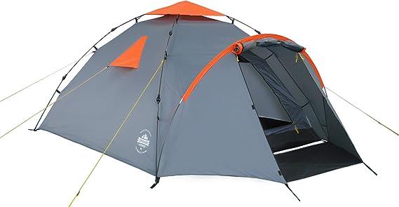 Lumaland Tienda de campaña Familiar Light Pop Up 3 Personas Camping Acampada Festival 220 x 220 x 130 cm Gris: Amazon.es: Deportes y aire libre