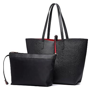 3ce7d842c2 Miss Lulu 3 Pieces Women Handbag + Cross Body Shoulder Bag + Purse Ladies  PU Leather