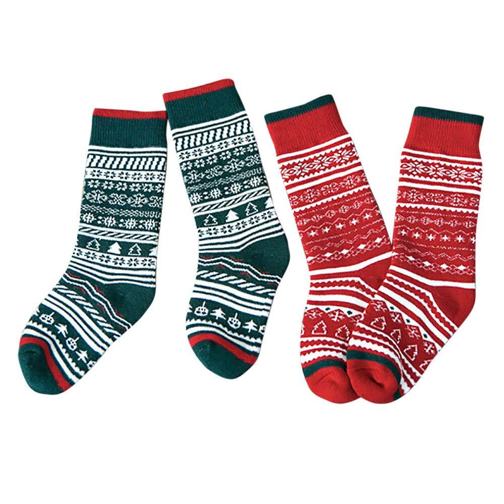 A.M.Feker Baby Boys Girls Winter Cute Casual Socks Middle Tube Socks Christmas Gifts