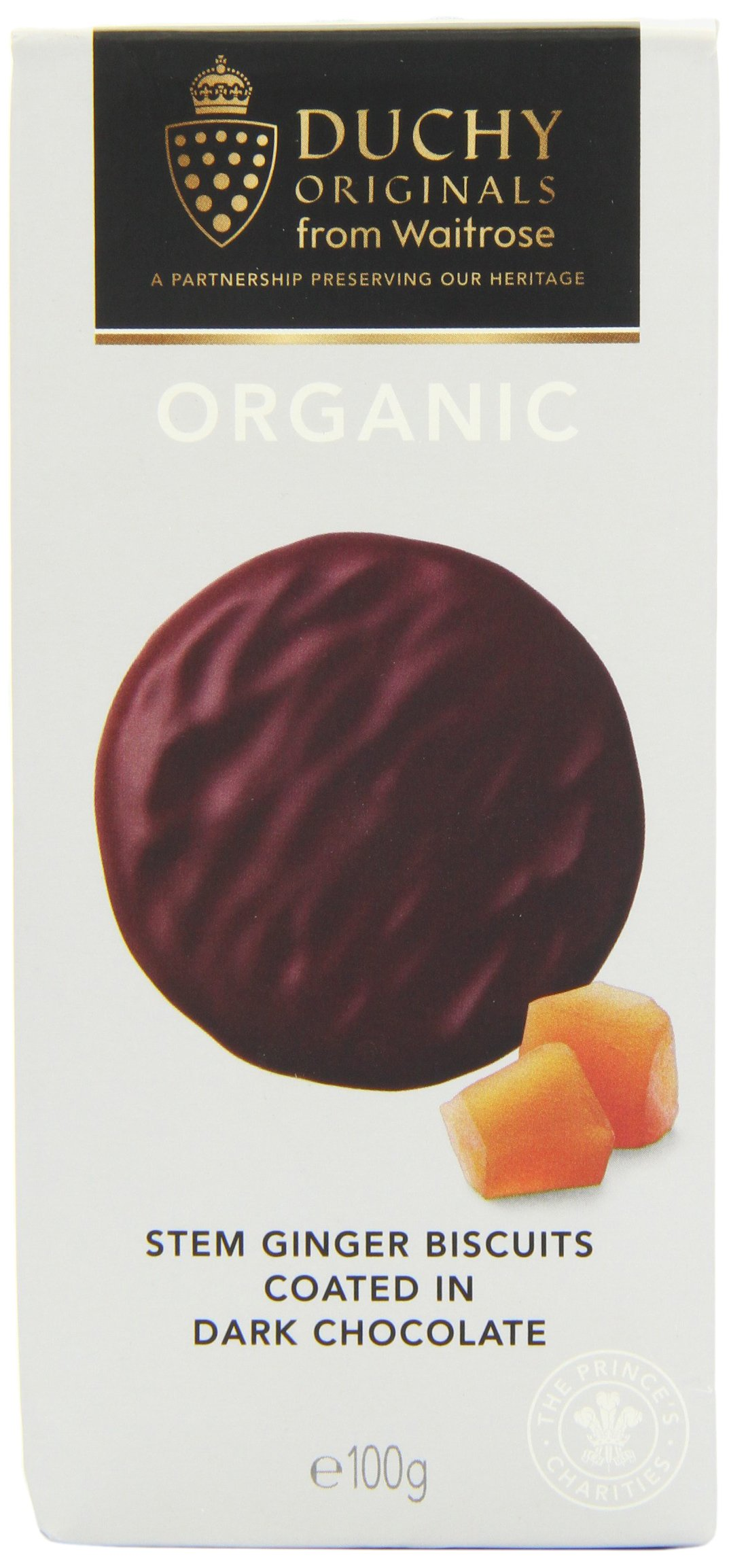 Duchy Originals Stem Ginger Dark Chocolate Organic Biscuits 100 g (Pack of 3)