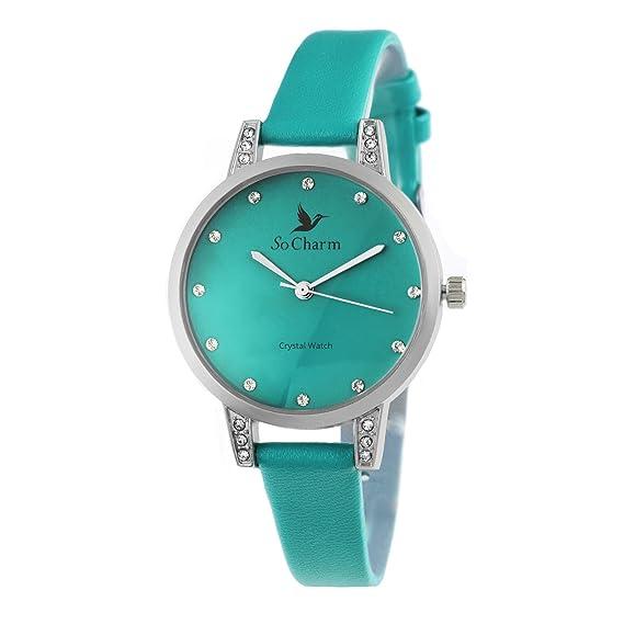 Reloj mujer so Charm ornée de cristales de Swarovski®: Amazon.es: Relojes
