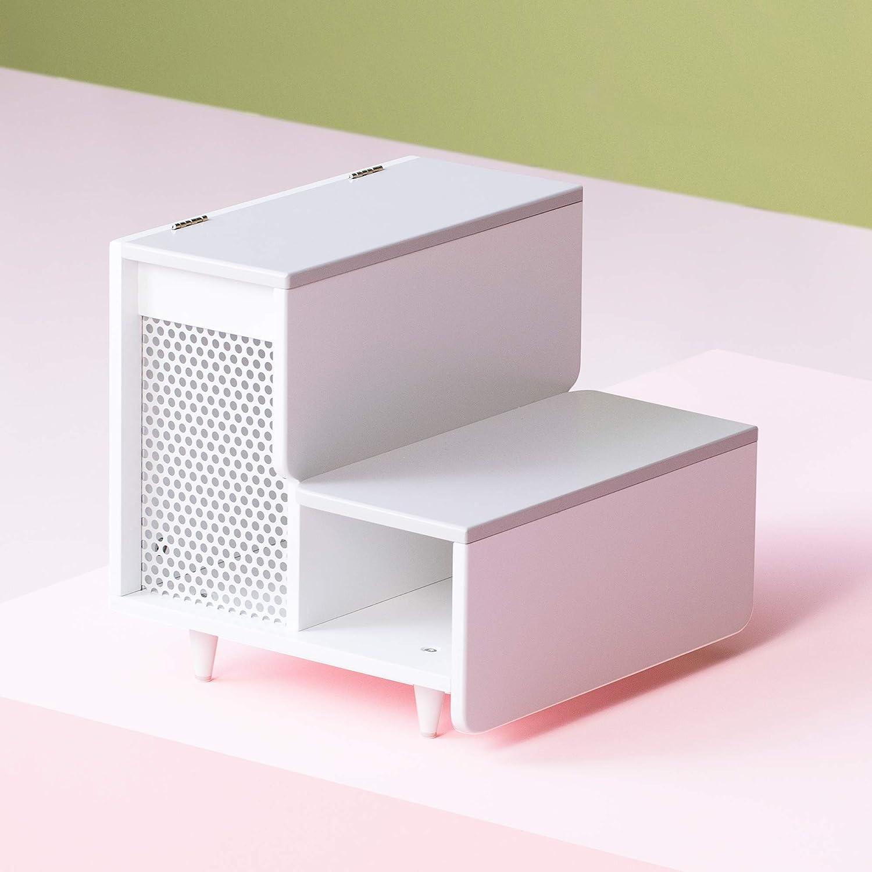 Amazon com staart esker wooden pet steps alpine white small pet supplies