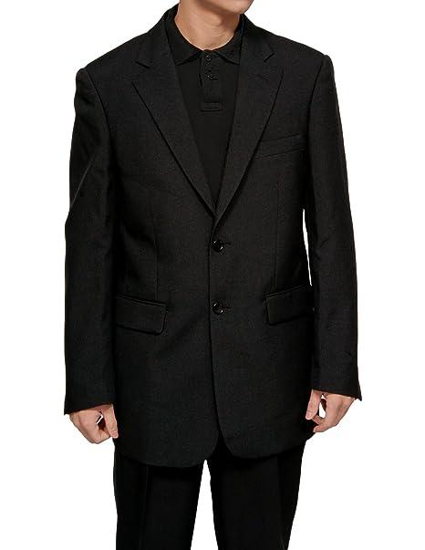 Amazon.com: De los hombres Slim Fit Vestido Negro Suit W ...