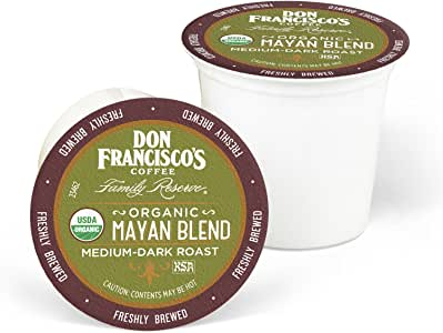 Don Francisco's Organic Mayan (55 Count) Recyclable Single-Serve Coffee Pods, Compatible with Keurig K-Cup Brewers