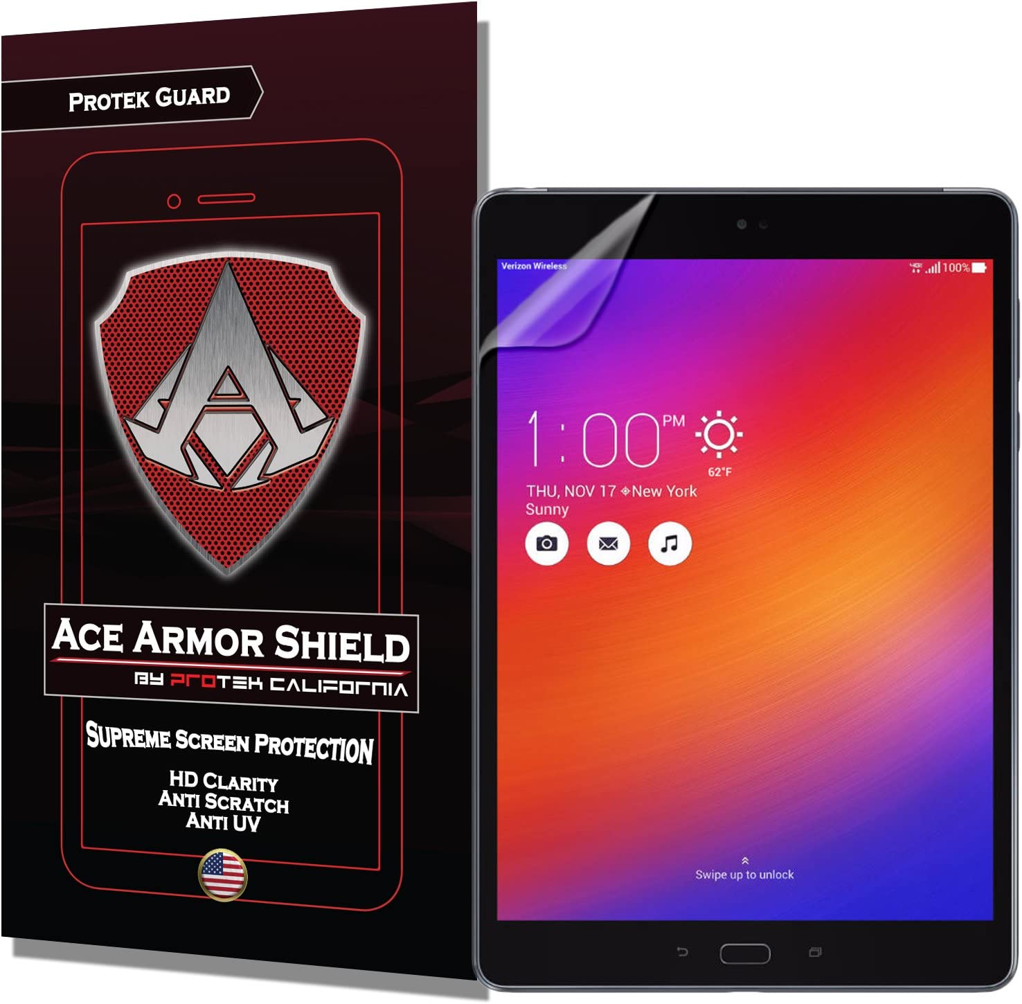 Ace Armor Shield Protek Guard Screen Protector for The Asus ZenPad Z10 with Free Lifetime Replacement Warranty