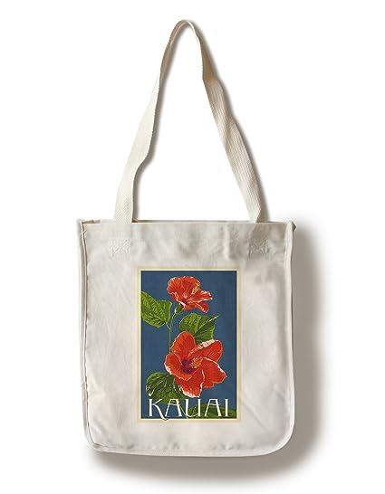 Amazon com: Kauai, Hawaii - Red Hibiscus - Letterpress (100