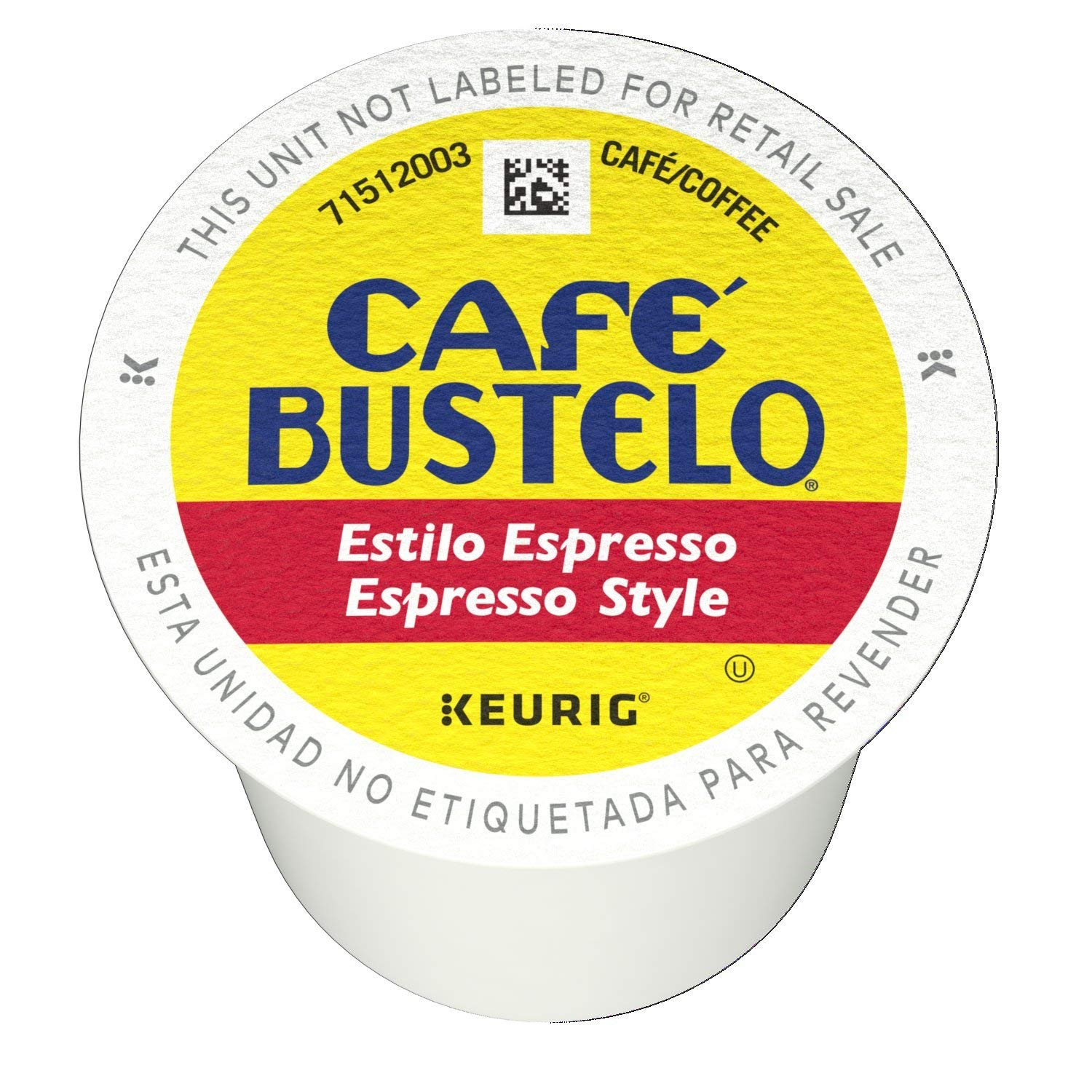 Café Bustelo Espresso Style K Cup Pods for Keurig Brewers, Dark Roast Coffee, 105 Count (105 Count)