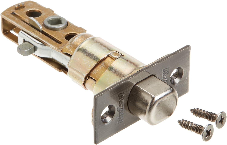 Kwikset Corporation 26499 DB SCAL 15A Series Deadbolt Square Corner Adjustable Latch in Antique Nickel