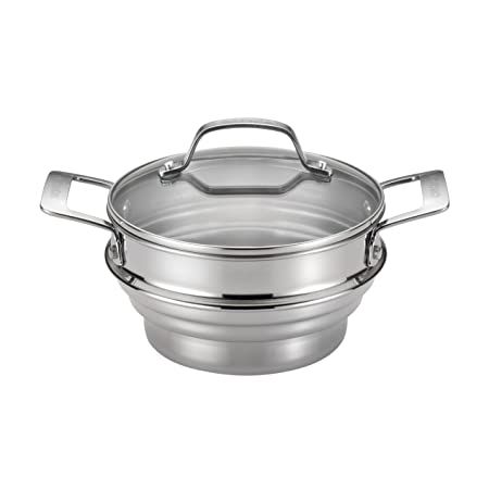 5. Circulon Stainless Steel Universal Steamer with Lid