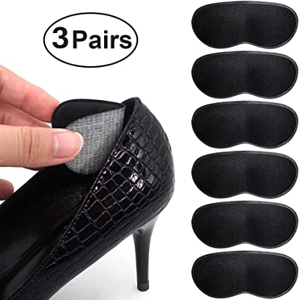 2 Pairs Leather Grips Liner Cushions High Heel Inserts for Shoes Shoe Pads Slip