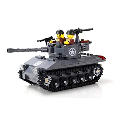 Battle Brick Deluxe M18 Hellcat Custom US Army Tank Hand Sorted Set: Toys & Games
