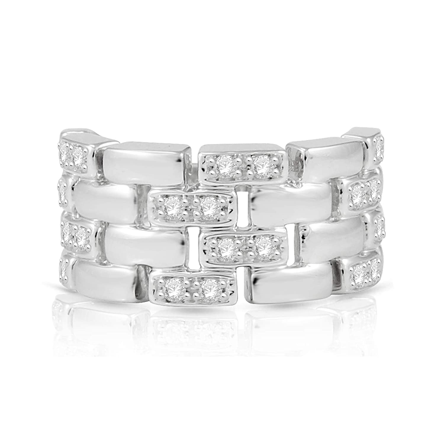 Amazon Natalia Drake Blowout Sale 14ctw Diamond Chain Link Anniversary Wedding Band In Sterling Silver Jewelry: Link Diamond Wedding Band At Reisefeber.org
