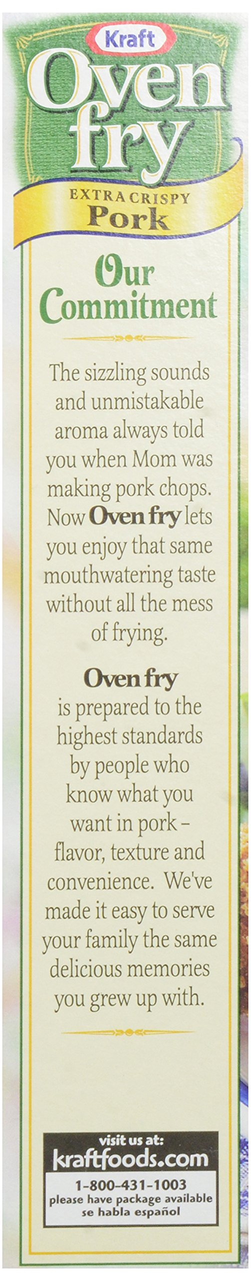 Kraft Oven Fry Seasoned Coating Mix for Pork, Extra Crispy, 4.2 oz(pack of 8) by Kraft Oven Fry (Image #6)