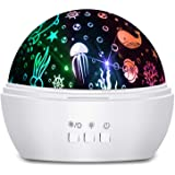 Moredig Kids Night Light, 360° Rotating Starry Night Light Projector for Baby, Ocean Wave Projector for Kids Bedroom Decorati