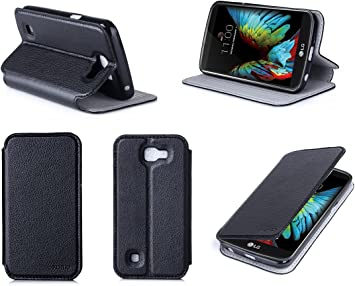 Buyus – Funda LG K4 4 G negro Ultra Slim piel estilo con stand ...