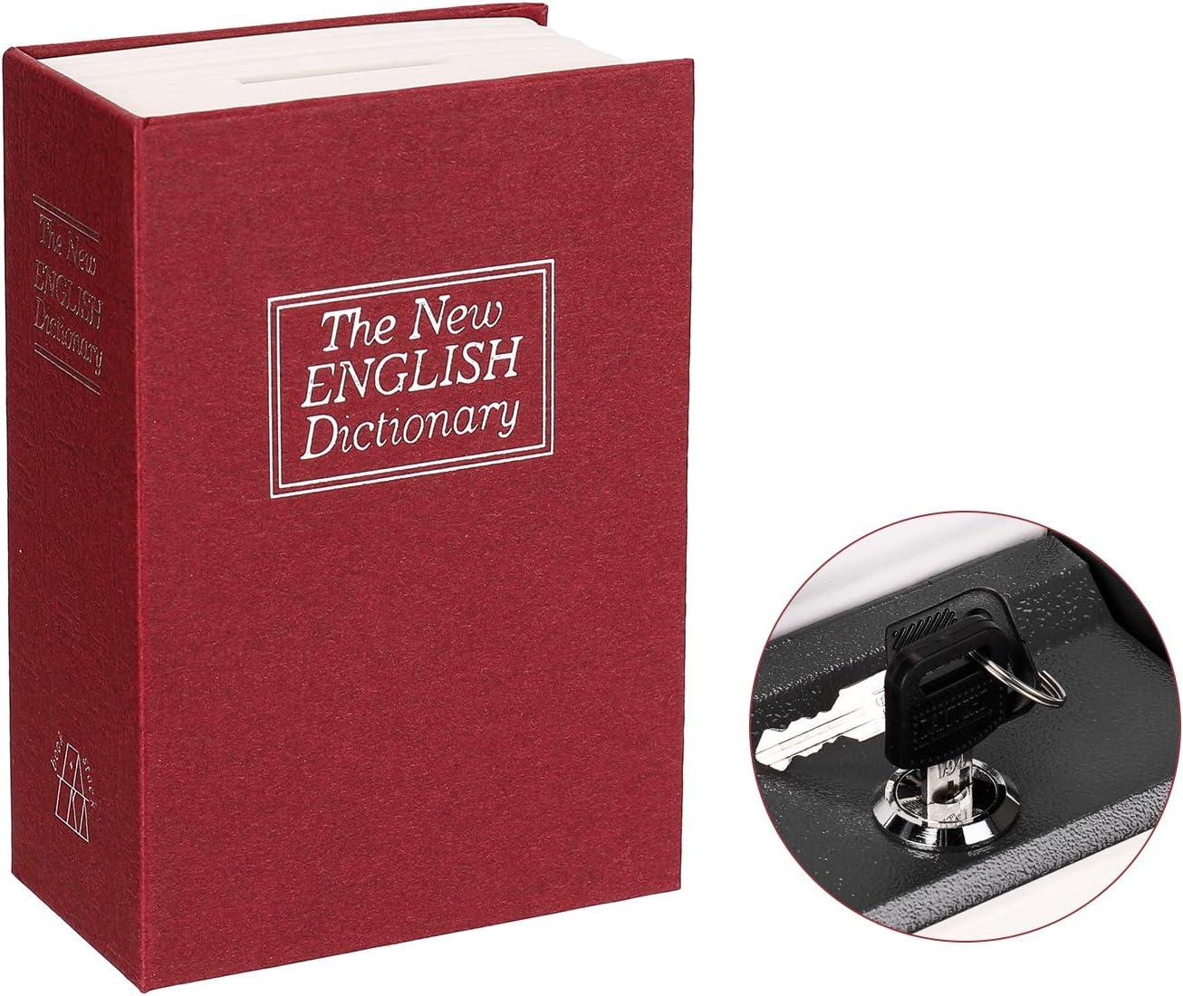 Fesjoy Caja secreta Diccionario Caja fuerte Libro Dinero Cerradura de seguridad oculta Efectivo Moneda Almacenamiento Bloqueo de llave para regalo de ni/ño