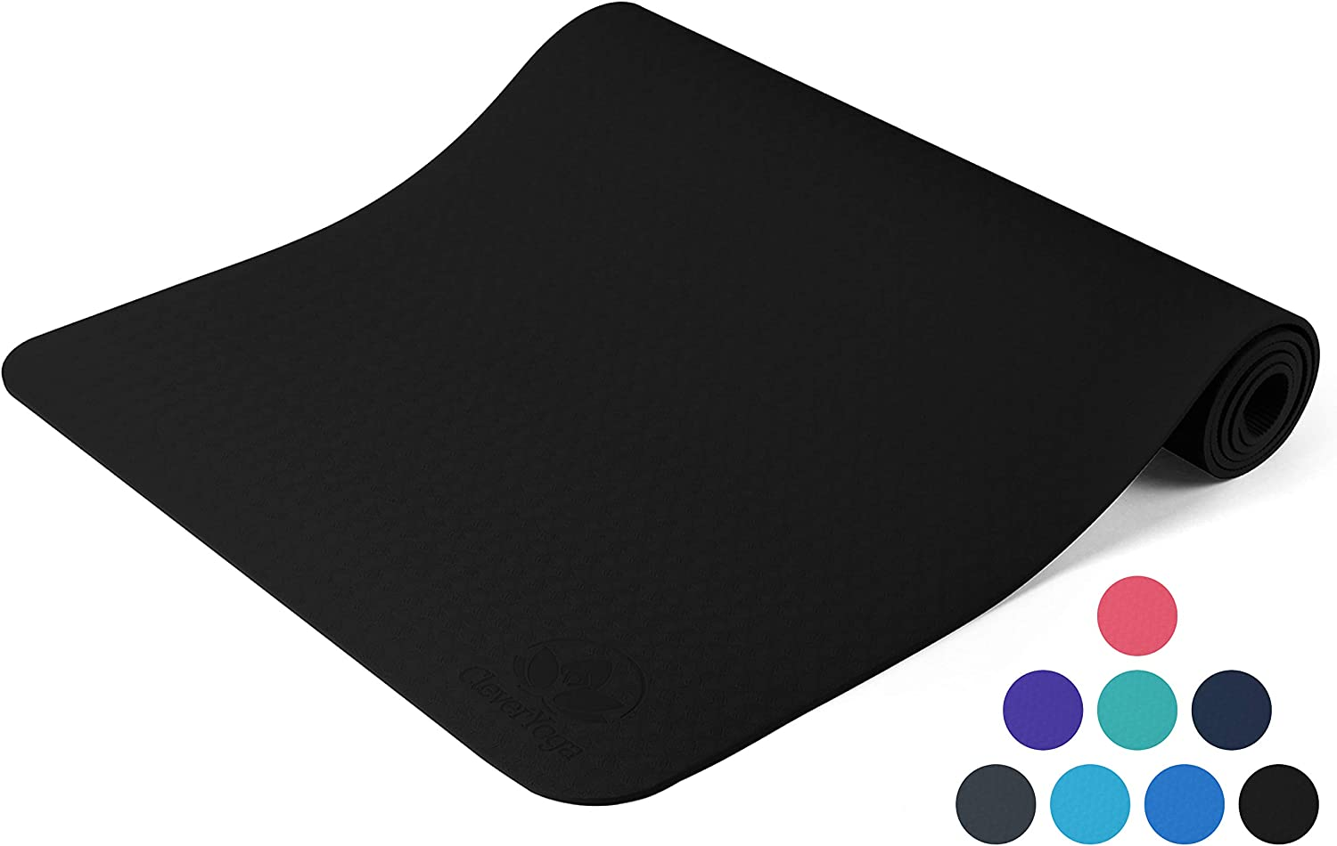 Yoga Mat Non Slip - Longer and Wider Than Other Exercise Mats - ¼-Inch Thick High Density Padding to Avoid Sore Knees During Pilates, Stretching & ...