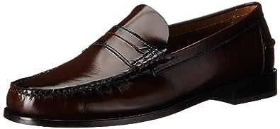 Florsheim Men's Berkley Dress Shoe Slip On Penny Loafer,Burgundy,6 EEE US