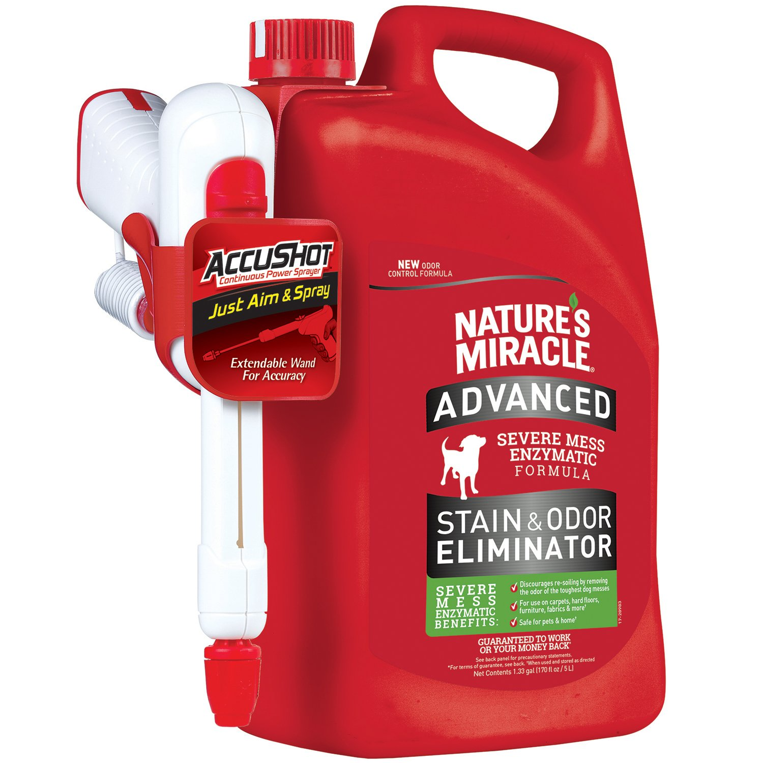 Nature's Miracle Advanced Stain and Odor Eliminator,  170oz by Nature's Miracle