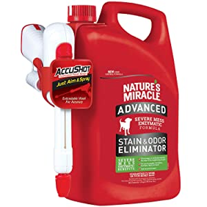 Nature's Miracle Advanced Stain and Odor Eliminator Dog, for Severe Dog Messes