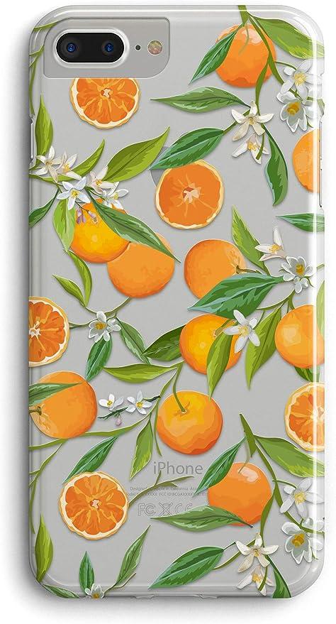 iPhone 8 Soft Silicone Gel Fruits Flower Phone Case 7 Plus Handmade Real Pressed Dried Lemons Orange on iPhone 7 iPhone X 10 8 Plus