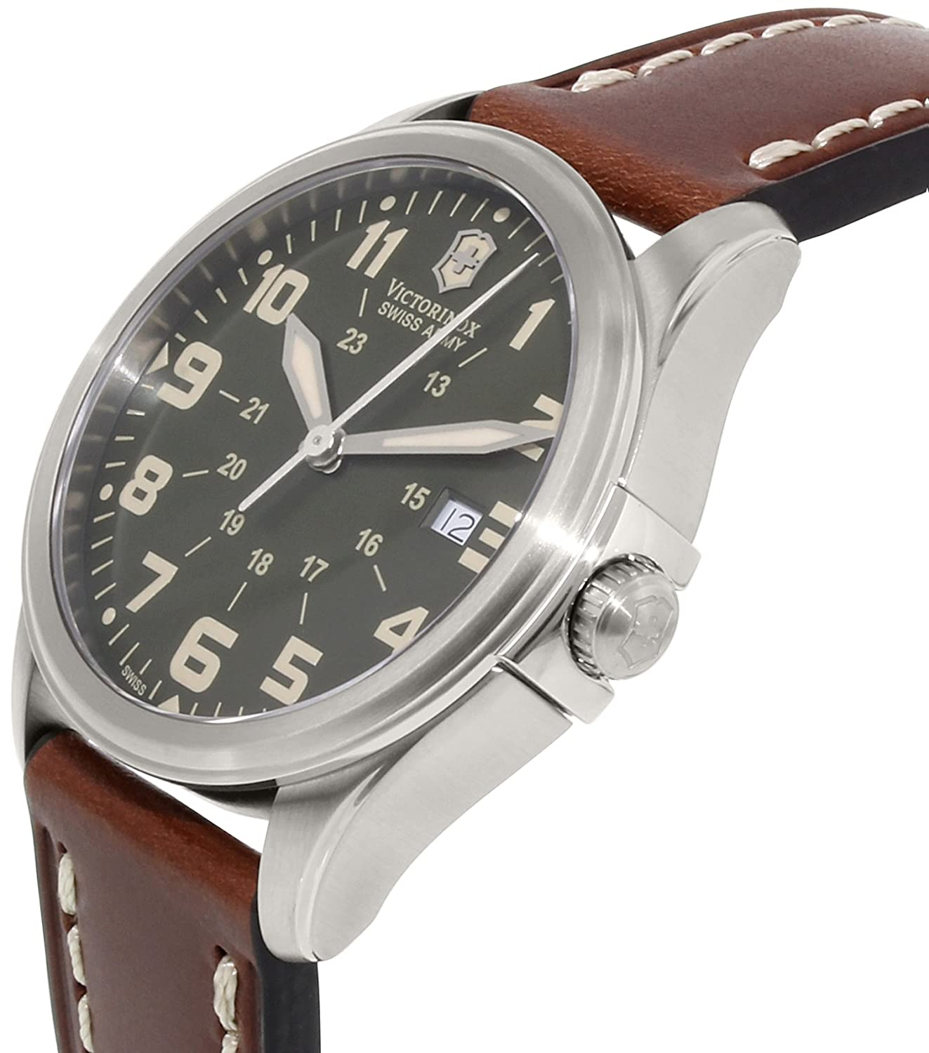 Amazon.com: Kevin Jewelers Mens Victorinox Swiss Army Infantry Vintage Quartz Mens Watch #241309: Victorinox: Watches