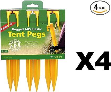 """Coghlan/'s Aluminium Hooked Tent Peg 7/"""" Pack de 4"""