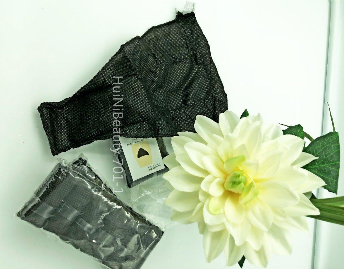 Huini Disposable Women's Underwear Bikini T-string Thong, Black (36 Counts) 701-1 x 6