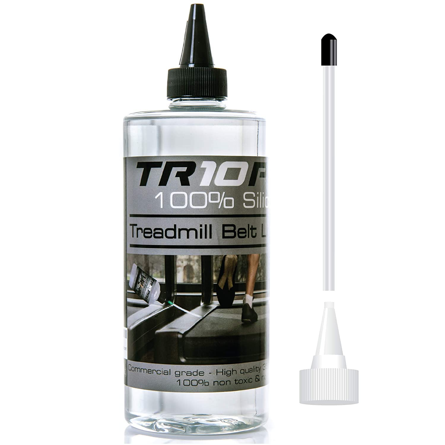 Silicone Treadmill Lubricating Oil –TR10 PRO Renew & Revive the Lifespan of the Belts for your Treadmill! Easy to Apply, Easy to Use Treadmill Belt Lubricant – Comes with Handy Applicator! Wide Range of Application – Custom Formulated for All Treadmil