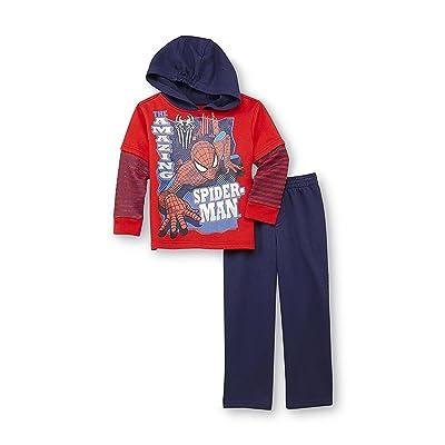 Marvel Little Boys' Spiderman Toddler Boys Hooded Fleece Set