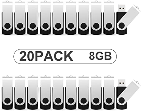 KOOTION Pendrives 8GB 2.0 Memorias USB 8GB 20 Piezas Pen Drive USB 2.0 Flash Drive 8 Gigas Lote Pincho USB Pen Stick Pack de 20 Unidades, Negros: Amazon.es: Electrónica