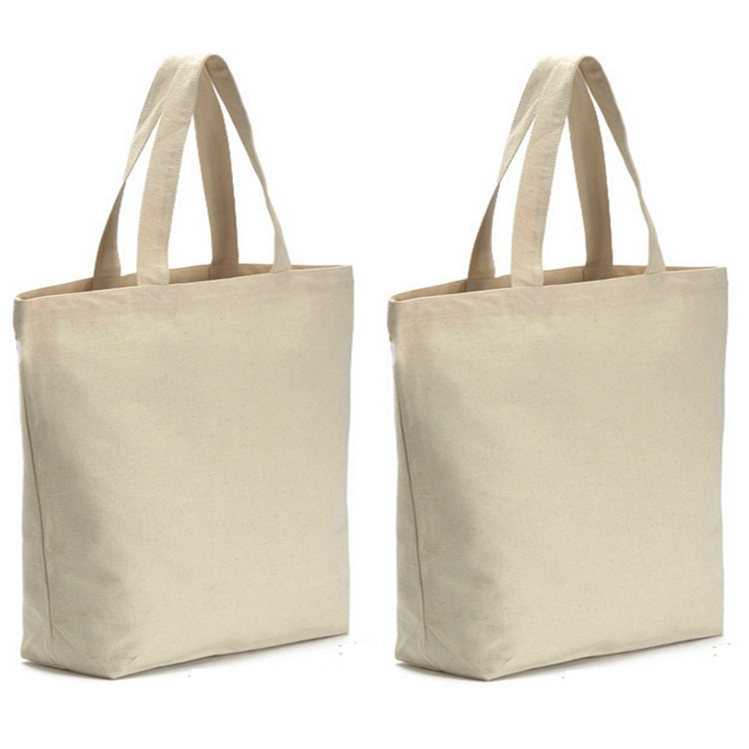 Axe Sickle 12oz Heavy Canvas Tote Bag 16'' W X 16'' H X 4.2'' Bottom Gusset (2 per pack), Tote shopping bag, Washable grocery tote bag, Craft Canvas Bag White, Cloth Bag With Handles. by Axe Sickle (Image #1)
