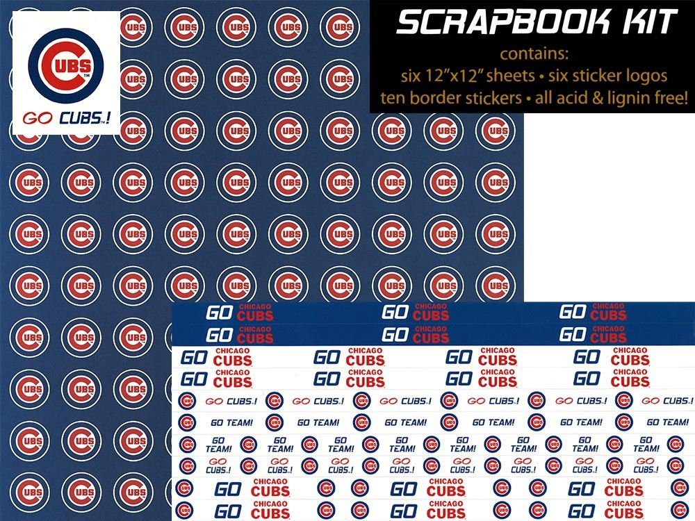 MLB Chicago Cubs 12\' x 12\' Scrapbook Kit (8830005) Perfect Timing