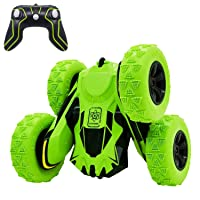 Threeking RC Cars Stunt car Remote Control Car Double Sided 360° Flips Rotating 4WD Outdoor Indoor car Toy Present Gift for Boys/Girls Ages 6+