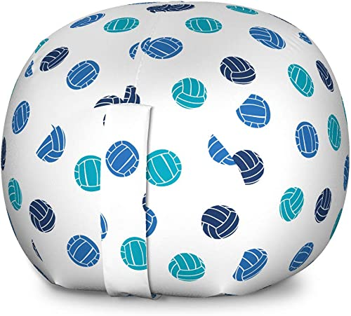 Lunarable Volleyball Storage Toy Bag Chair