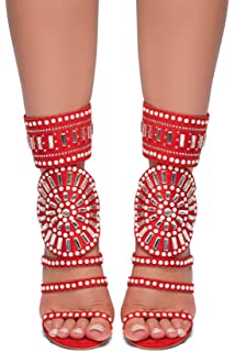 303d7a8e8 Herstyle Women's Fashion Crowd/Sunda Stiletto Heel, Jeweled Embellishment