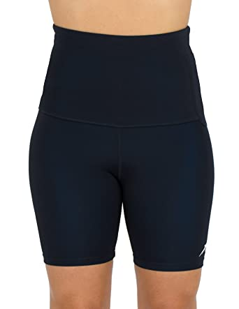 Delfin Spa Women's Mineral Infused High Waist Exercise Shorts ...