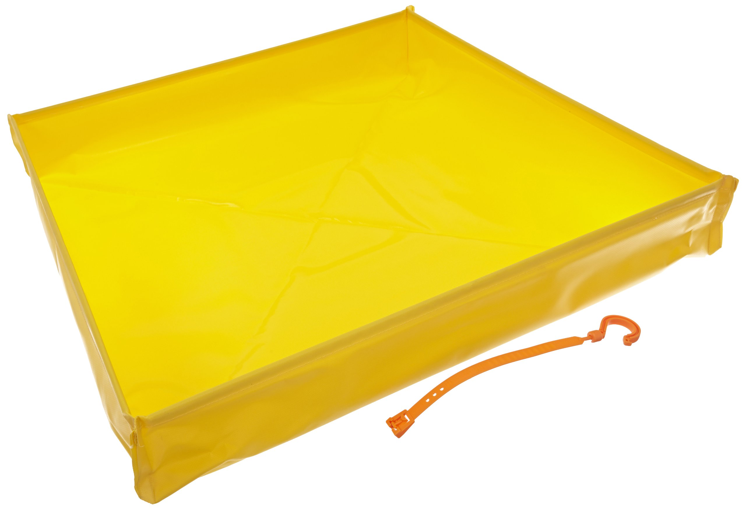 UltraTech 1332 PVC Fabric Flexible Ultra-Utility Tray, 30'' Length x 30'' Width x 4-3/4'' Height, Yellow