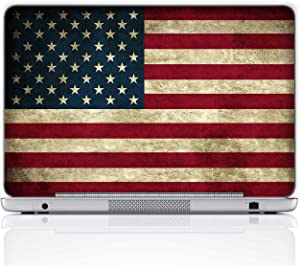 Meffort Inc 17 17.3 Inch Laptop Notebook Skin Sticker Cover Art Decal (Included 2 Wrist pad) - USA Flag